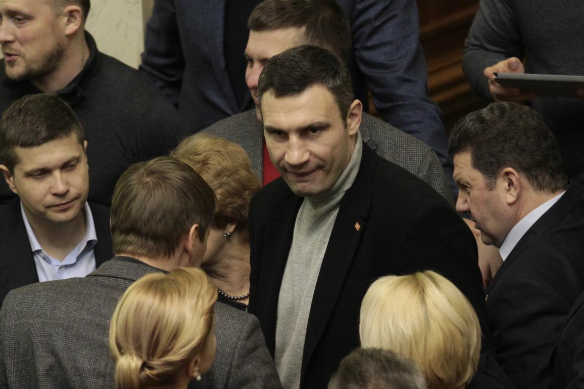 Vitalij Kličko v ukrajinském parlamentu