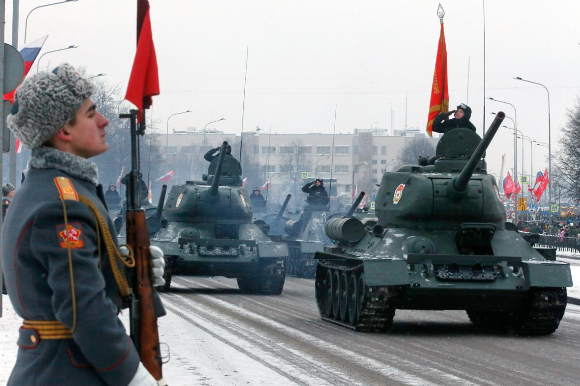 Přehlídka k 70. výročí ukončení blokády Leningradu
