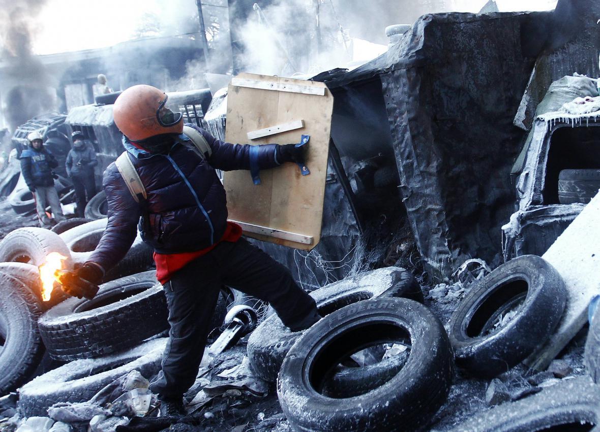 Radikální odpůrci ukrajinské vlády