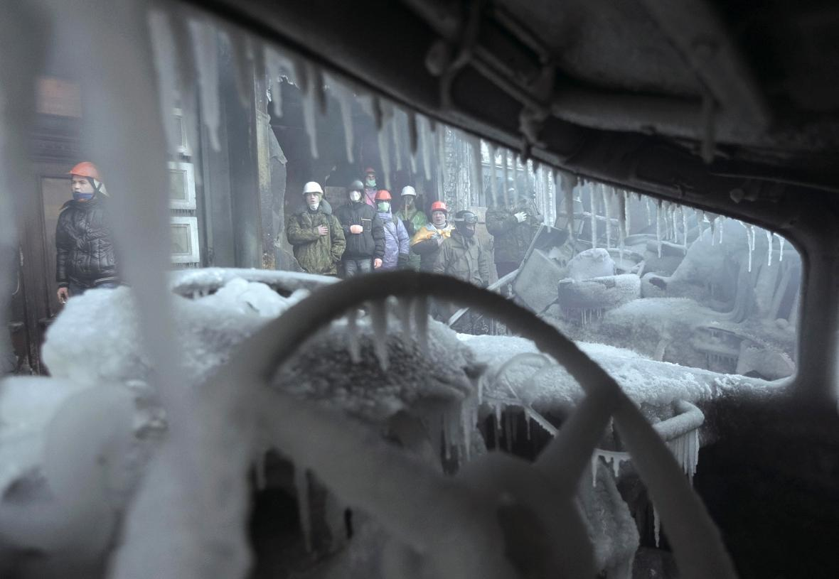 Protesty v centru Kyjeva