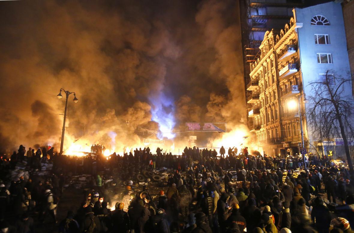 Nepokoje v centru Kyjeva