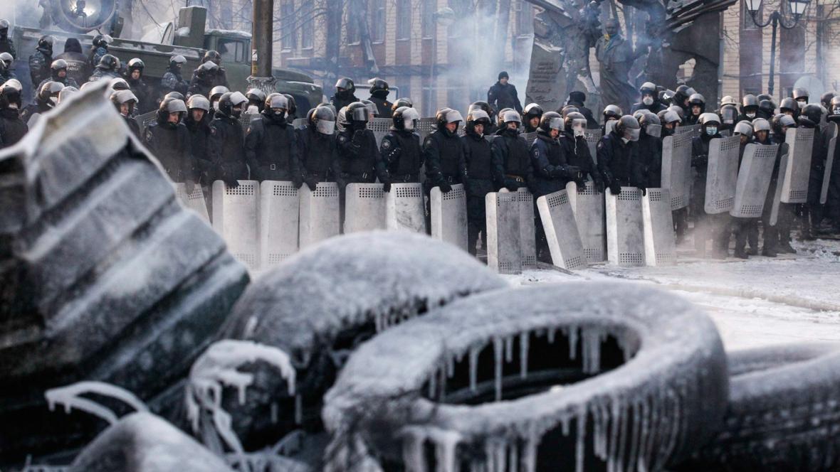Barikády v Kyjevě
