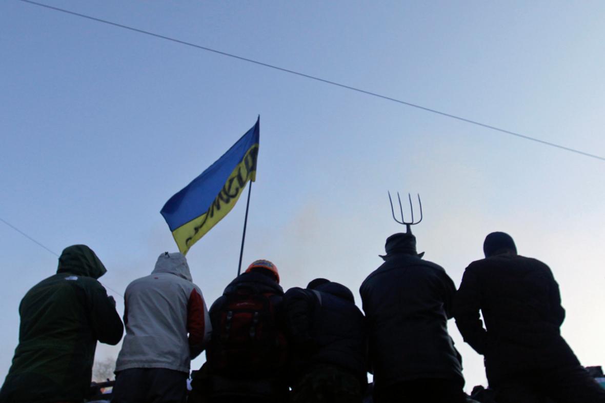 Ukrajinští demonstranti