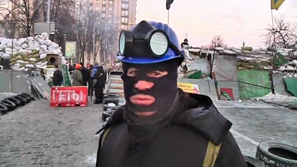 Ukrajinský demonstrant