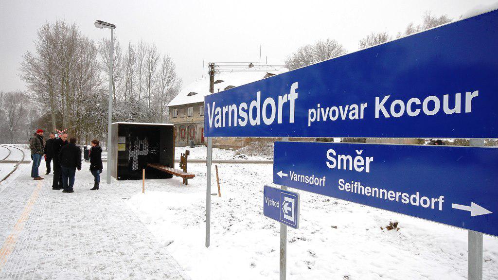 Zastávka Varnsdorf - pivovar Kocour
