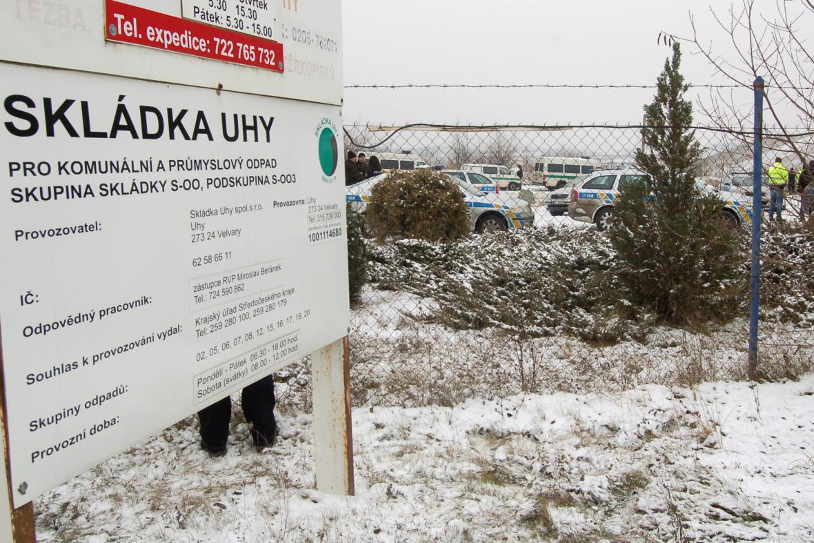 Na skládce u obce Uhy byla bomba z války