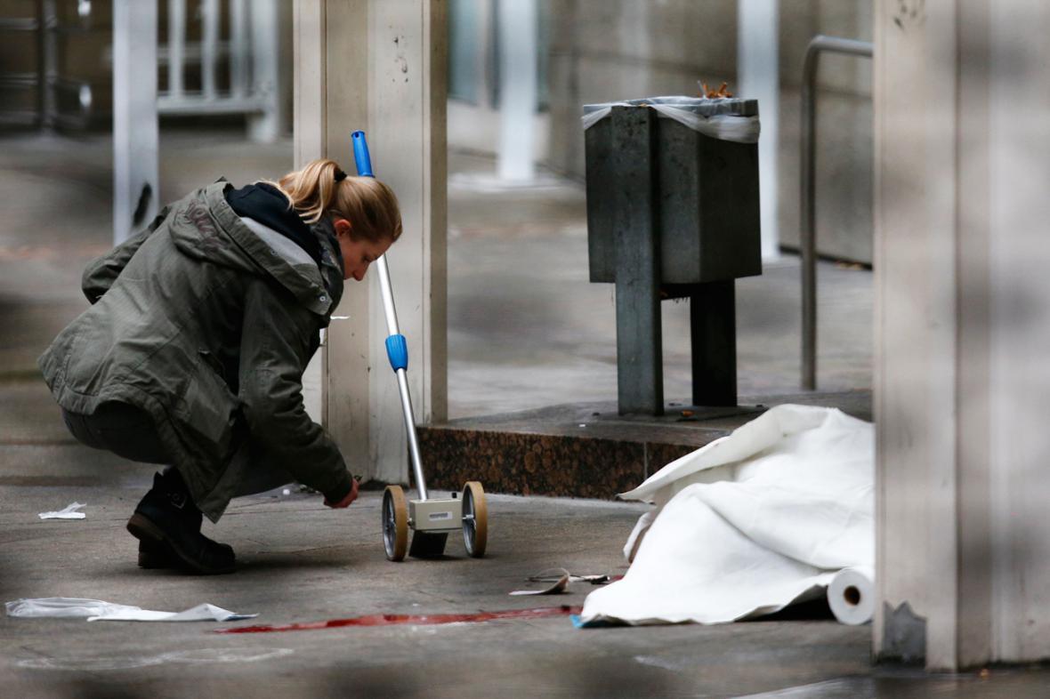 Vyšetřování střelby u soudu ve Frankfurtu