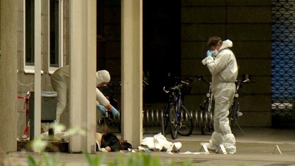 Střelba u soudu ve Frankfurtu