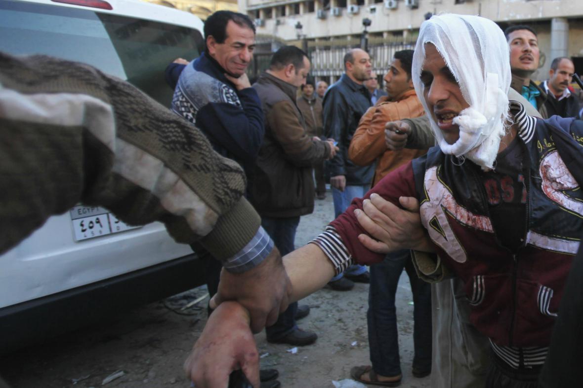Egyptský policista zraněný při výbuchu