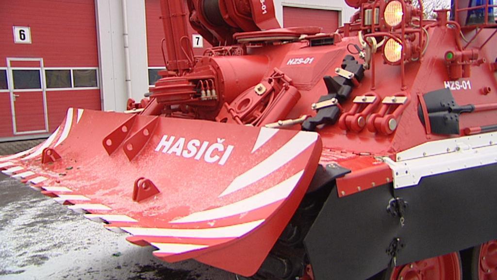 Upravený tank VT72b budou využívat hasiči