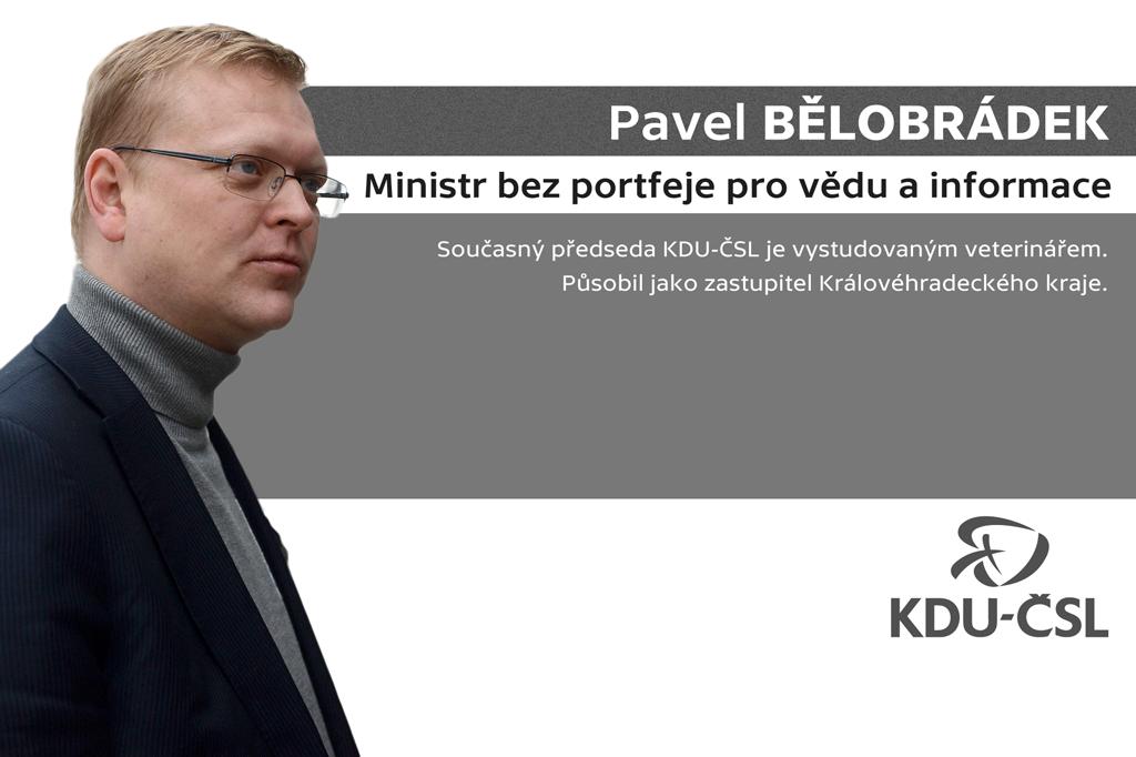 Pavel Bělobrádek – ministr bez portfeje pro vědu a informatiku
