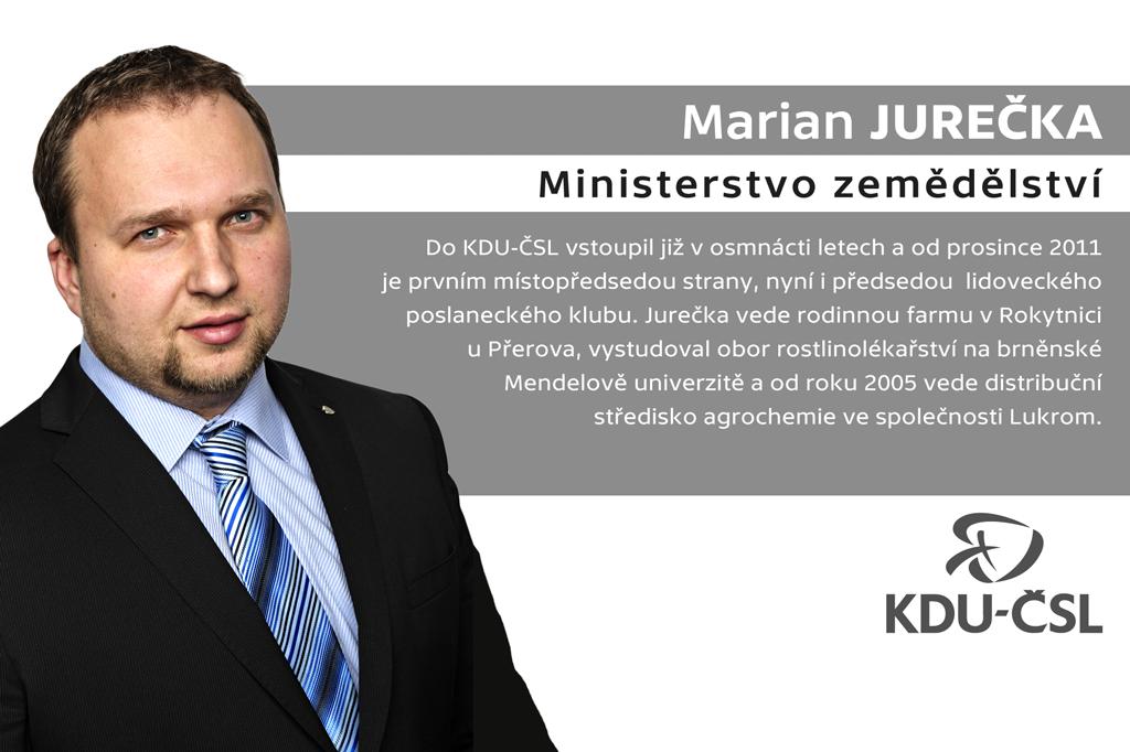 Marian Jurečka – ministerstvo zemědělství