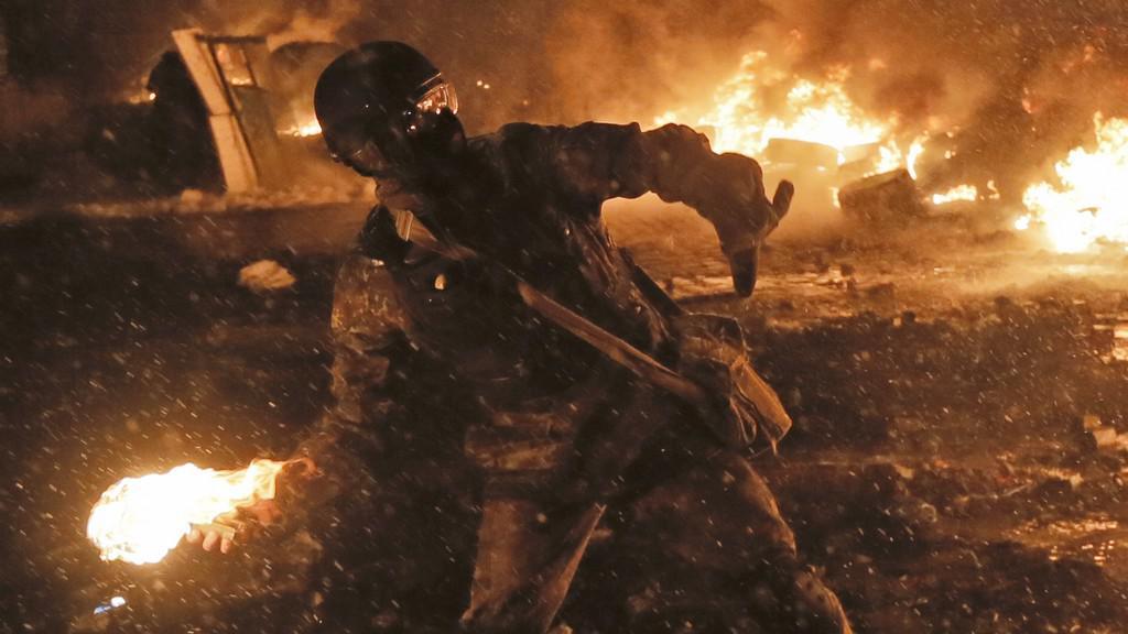 Noční střety v Kyjevě