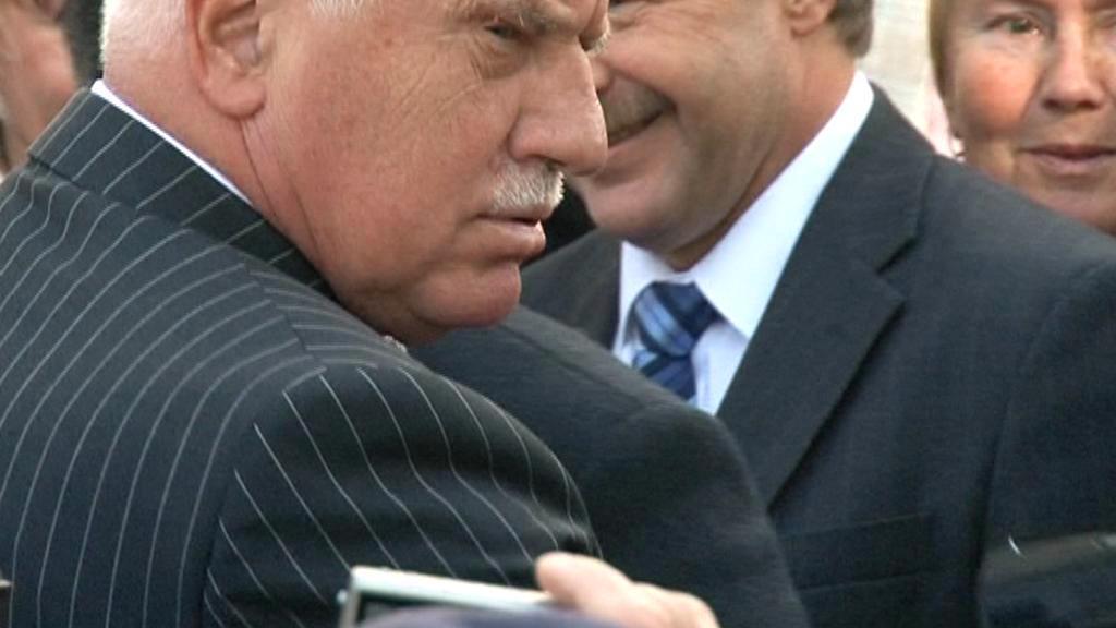 Václav Klaus při incidentu