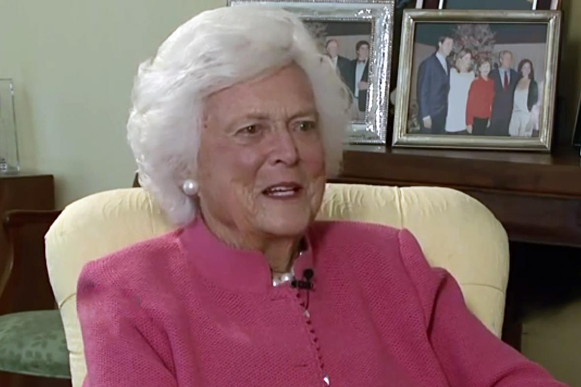 Barbara Bushová v rozhovoru pro C-Span