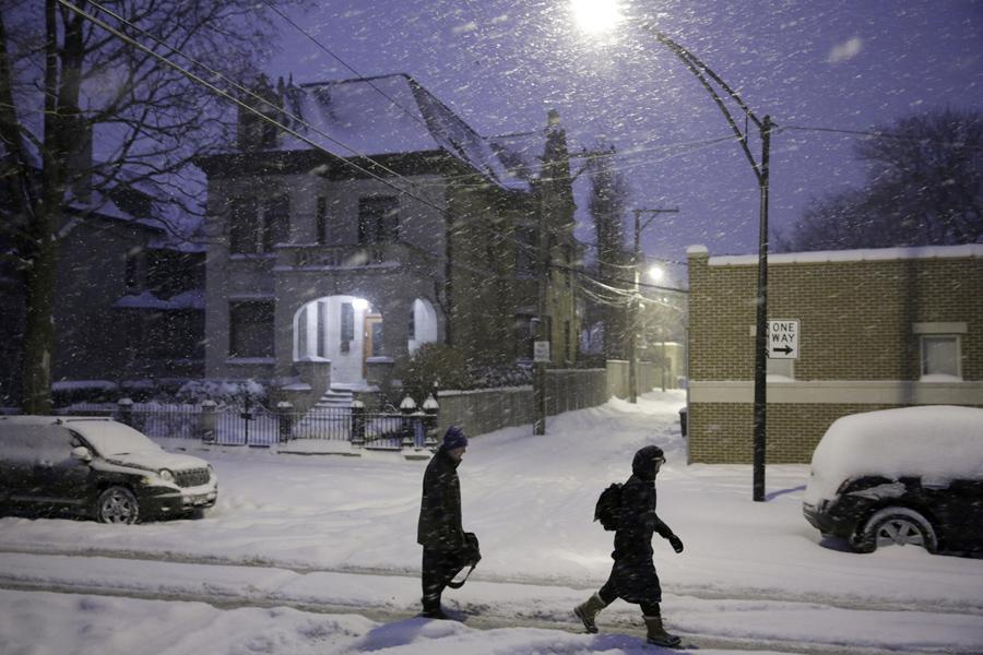 Sníh v Chicagu