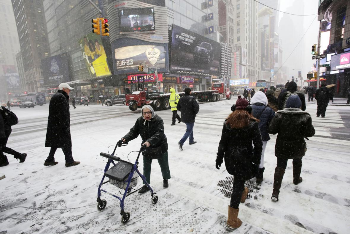 Mrazivé počasí v USA