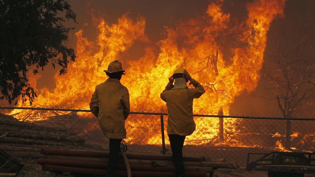 Požár v Texasu