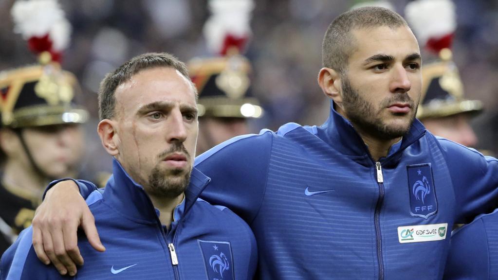 Franck Ribéry a Karim Benzema
