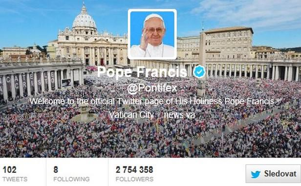 Papežský účet na Twitteru