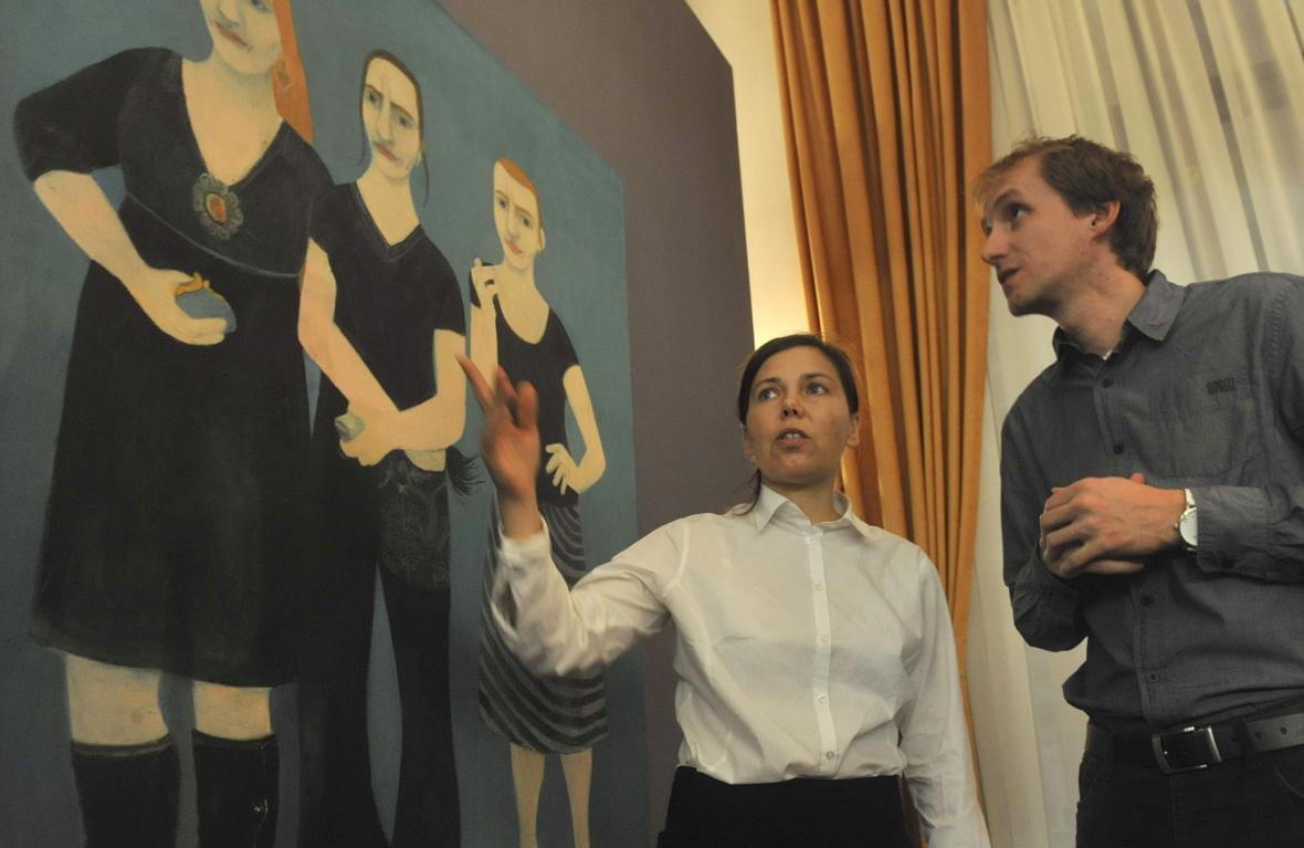 Vernisáž výstavy Hany Puchové v DAD
