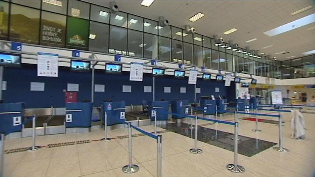 Odbavovací hala mošnovského letiště