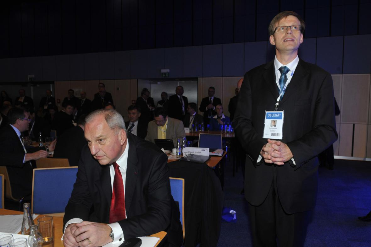 Evžen Tošenovský a Martin Kupka