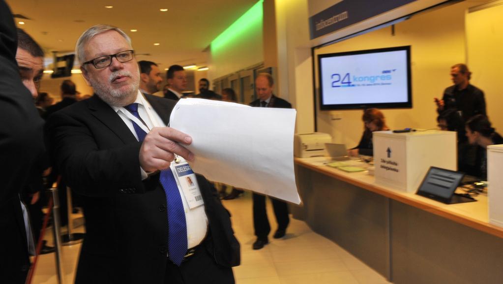 Jiří Oberzalfer na kongresu ODS