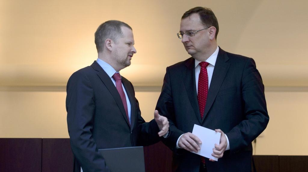 Dva poslední předsedové ODS při společné debatě - únor 2013