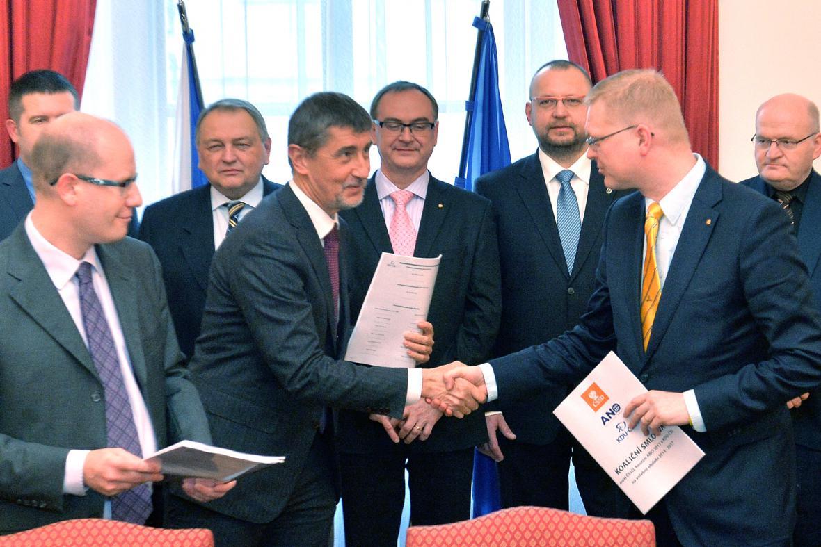 Vládní koalice s koaliční smlouvou