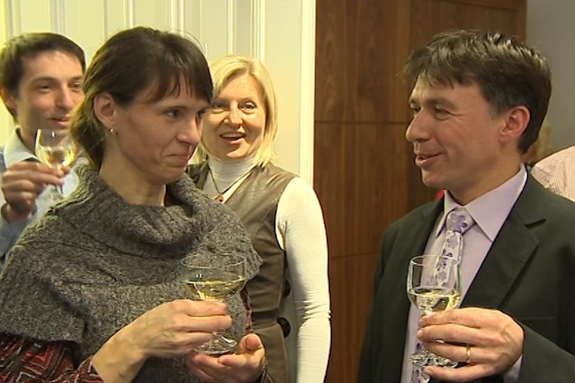Patrik Kunčar s manželkou