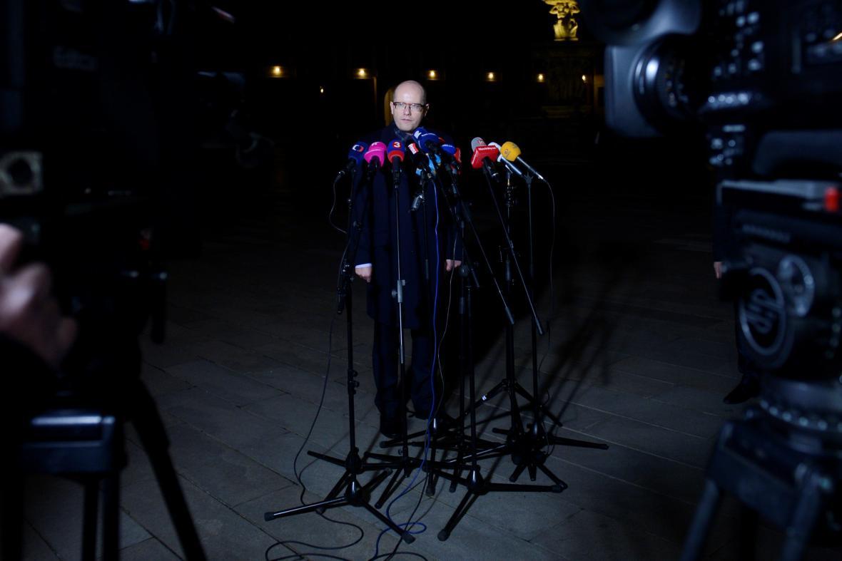 Bohuslav Sobotka po návštěvě Miloše Zemana