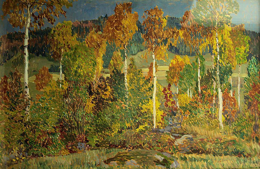 Antonín Hudeček / Podzim ve Slaném