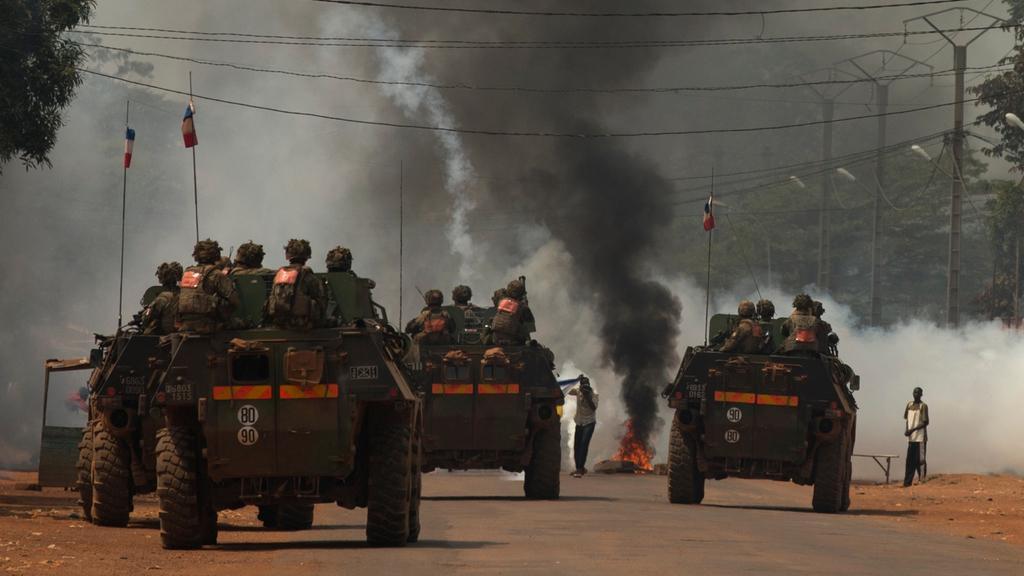 Francouzští vojáci v Bangui