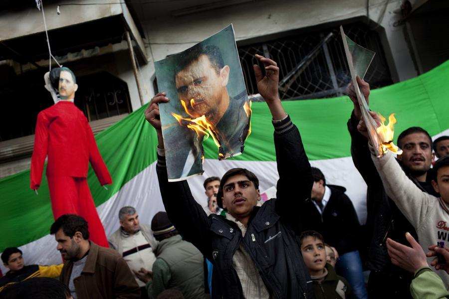 Protesty v Sýrii