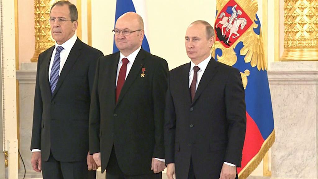 Sergej Lavrov, Vladimír Remek a Vladimir Putin