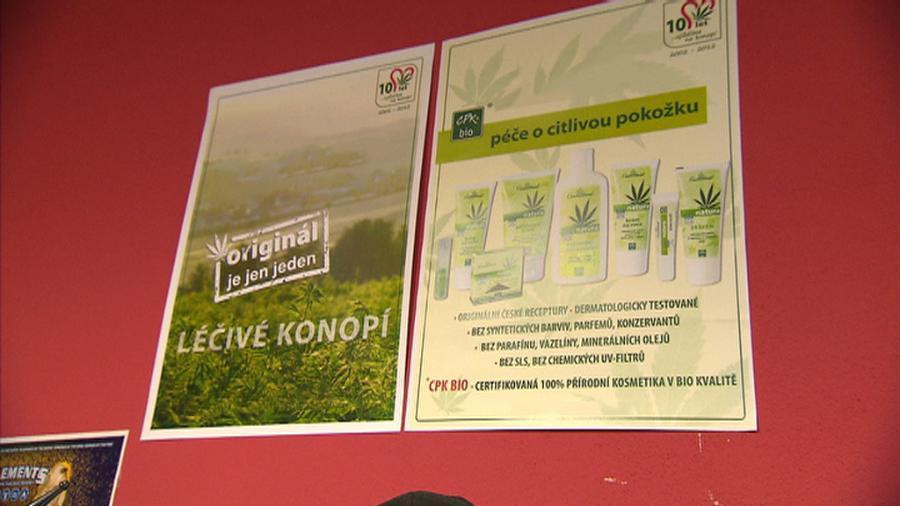 Reklamní leták v growshopu
