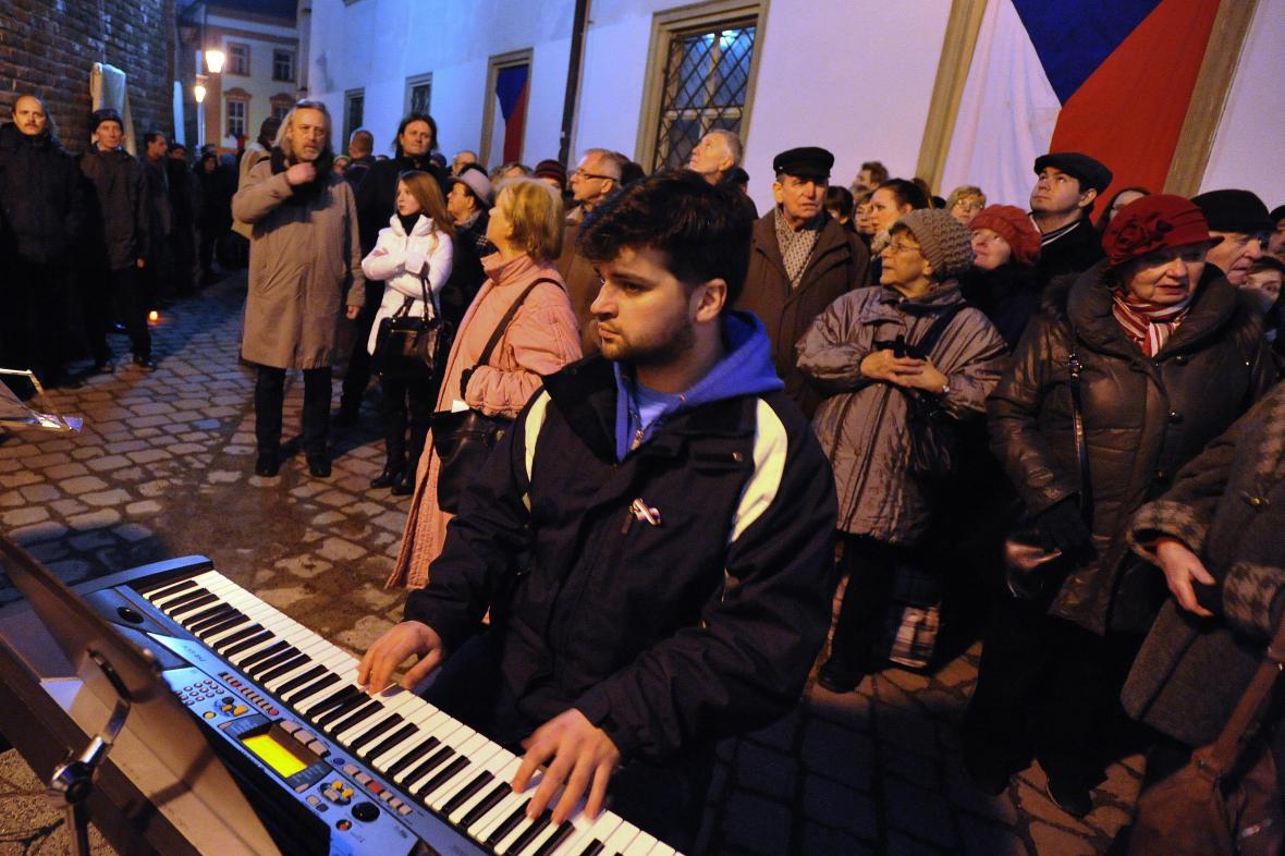 Slavnostní otevření Uličky Václava Havla v Brně