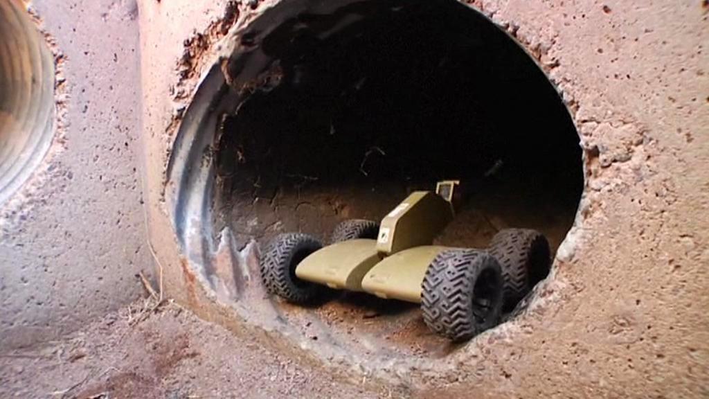 Robot na průzkum pašeráckých tunelů