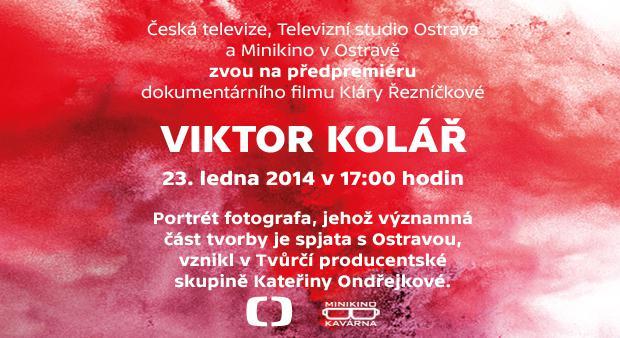 Předpremiéra dokumentárního filmu Viktor Kolář