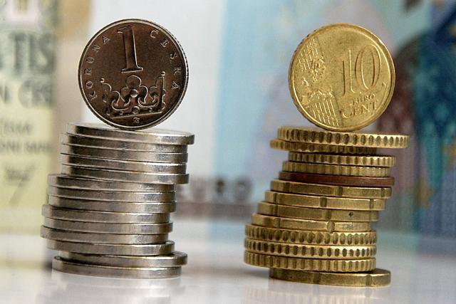 Koruna versus euro