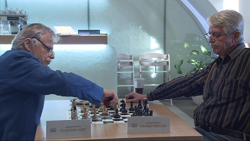 K první partii na slavnostním turnaji nastoupil s Eduardem Medunou