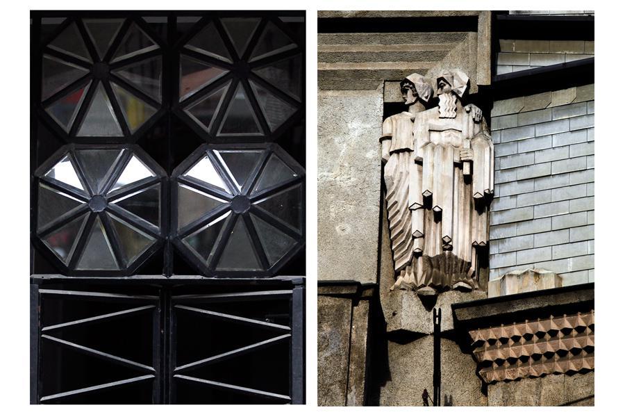 Kubistické detaily domu Diamant