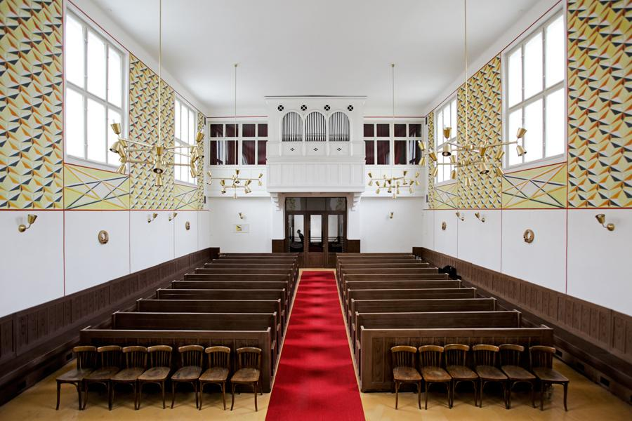 Interiér Betlémské kaple v Prokopově ulici