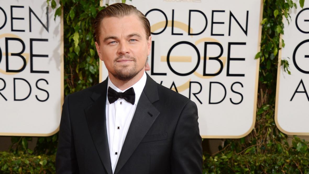 Leonardo DiCaprio na udílení Zlatých glóbů
