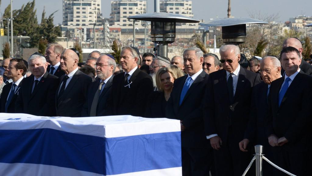 Smuteční ceremoniál za Ariela Šarona
