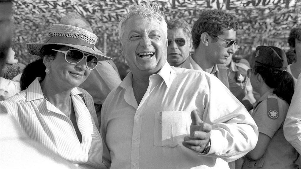 Ariel Šaron s manželkou Lily začátkem 80. let