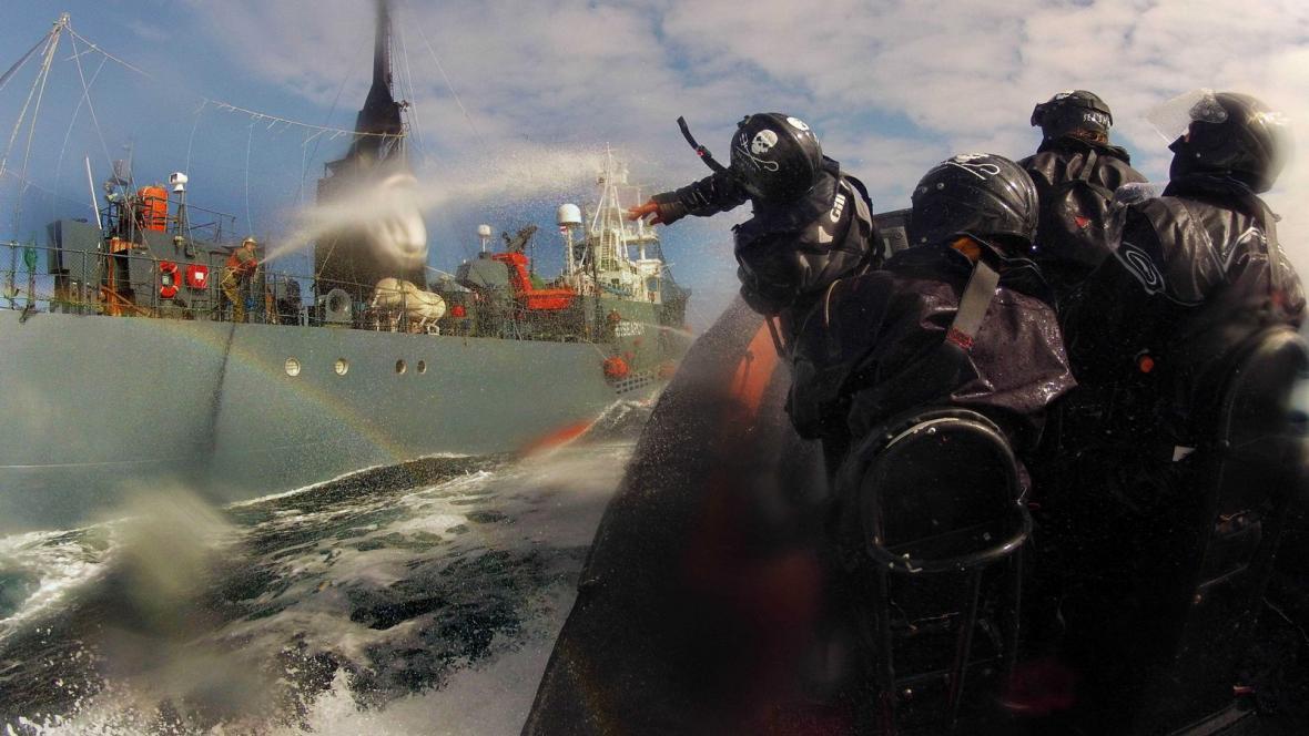 Ekologičtí aktivisté Sea Shepherd