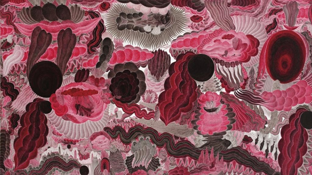 Obraz Jana Híska z výstavy Řeka