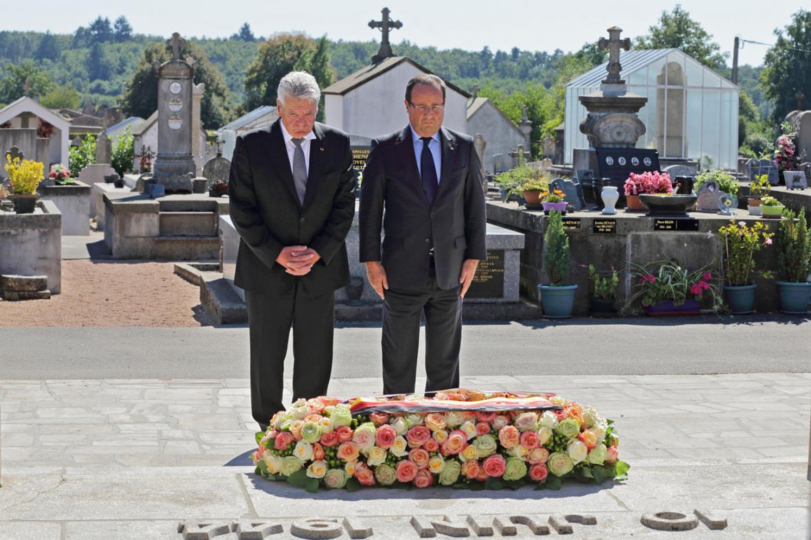 Joachim Gauck a Francois Hollande